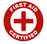 First Aid Certified Emblem Vinyl Decal Window Sticker Car