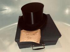 Antiker Zylinder Hut Chapeau Claque Top Hat Gr 60 XXL new ungetragen regenfest