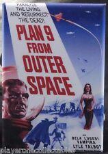 Plan 9 From Outer Space Movie Poster - Fridge / Locker Magnet. Bela Lugosi