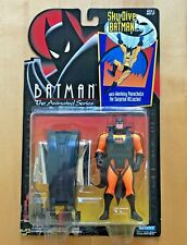 Batman The Animated Series Sky Dive Batman NEW on Card KENNER 1992