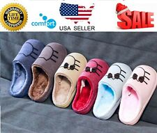 Men Women Slippers Slip-On Anti-Skid Solid Indoor Casual Shoes Snow Slipper 7-11