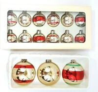 Lisa Liffick Home Honey & Me Glass Ornaments 2 Sets Of 3 & 12 Old World NIB