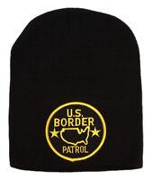 Cuffless United States Border Patrol Logo Beanie - Black