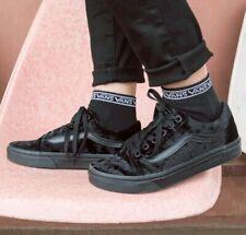 Vans Old Skool Black Velvet Skate Shoe Size Mens 8.5 Womens 10 New