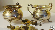 Vintage J E Caldwell & Co. Sterling Silver Footed Sugar and Creamer Set 7.4 Oz