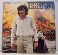33 tours Jean FERRAT Vinyle LP 12 Titres FERRAT 80 - 1980 Disque TEMEY 598 014