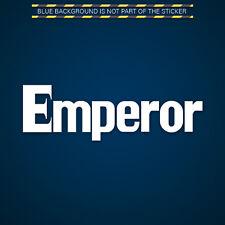 (2x) Initial D Emperor Sticker Decal Die Cut Self Adhesive Vinyl Crew Team