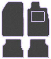 TVR Tasmin 85 85- Super Velour Dark Grey/Purple Trim Car mat set