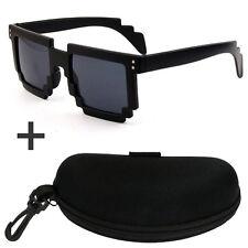 8-bit Pixelated Retro Computer Video Game - Geek Gamer Style Unisex Sunglasses
