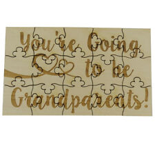 You're Going to Be Grandparents 15 Piece Wood Jigsaw Puzzle Pregnancy Surprise