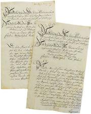 1799 Manuscript Letter - PRINCESS JULIANE - Schaumburg-Lippe - GRAINS FOR TROOPS