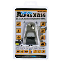 Oxford Alpha XA14 Ultimate Heavy Duty Alarm Disc Lock 14mm pin Brushed Stainless