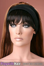 SIMPLE! Fringe Piece Bangs Soft Black Brown