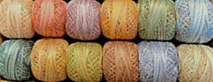 Muddy Monet Valdani Perle Cotton Sz 12 Embroidery Thread Variegated Hand Dyed JP