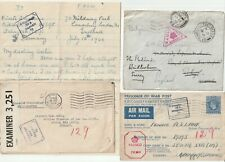 1915/44 3 TO/FROM RHYL FLINTSHIRE POW & MILITARY LETTERS 1 ARMY PO S10 CENSORS