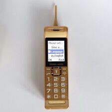 C3 TELÉFONO MOVIL LIBRE Cuatribanda Dual SIM Oro Largo En Espera Retro Dorado