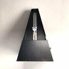 Precise Mechanical Metronome Black Vintage Style Art Music Timer - Works