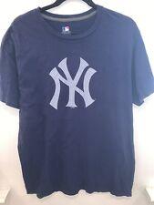 Vintage Retro Nba Oficial NY Yankees de Nueva York T Shirt Top Azul Marino Talla grande