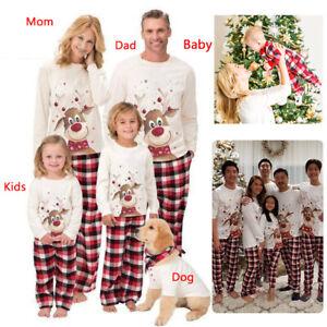 Family Matching Adult Christmas Pyjamas Xmas Nightwear Pajamas PJs Set Festive