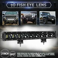 21INCH 9D Single Row Driving Light Off Road LED Light Bar for Truck JEEP 20/22''