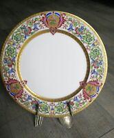 Assiette en Porcelaine de limoges William Guérin ancienne décor doré or fin.