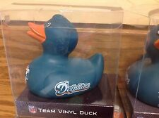 Rubber Ducky Miami Dolphins NFL Vinyl Duck ~ NEW IN BOX