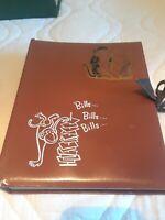 VINTAGE  BILL KEEPER / FILE ACCORDIAN STYLE BOOK BROWN