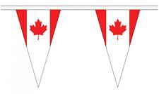 Canada 5M Triangle Flag Bunting - 12 Flags - Triangular