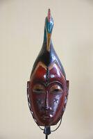 BA4 Guro Baule Maske alt Afrika / Masque Gouro ancien / Old tribal mask Africa