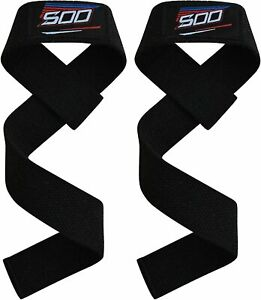 Great For Gym Weight Lifting Wrist Straps Padded Support Hand Bar Power Grip Str