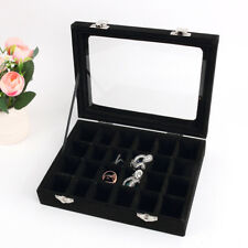 Velvet Case Ring Earring Necklace Trinket Organizer Display Jewelry Storage Box