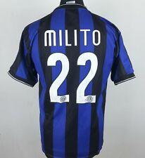 Inter Milano Fottball Shirt Men's Size M Soccer Jersey 22 Gabriel Milito Maglia