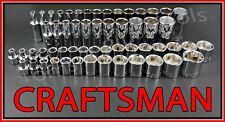 Craftsman Tools 56pc Short Amp Deep 38 Sae Metric 6pt Ratchet Wrench Socket Set