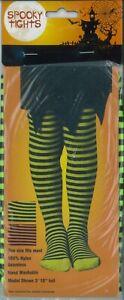 New Halloween Kids Children Spooky Stripe Stocking Full Foot Fancy Dress Socks
