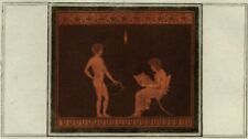 Décoration Etrusque Grèce Antiquité Indication d'Apollon Hamilton Gravure 1785