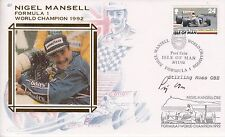 Stirling Moss Autographed Nigel Mansell Formula 1 World Champion Cover