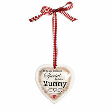 PERSONALISED HEART Birthday Mothers Day Christmas gift, Mummy Grandma Nanny Nana