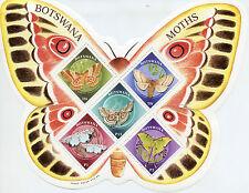 Botswana 2000 MNH Moths 5v M/S Insects Mopane Tiger Emperor Moth