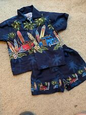 Pacific Legend Apparel Woody Car Vintage Surf Palm Trees Hawaiian Toddler Outfit