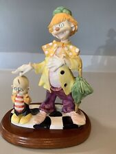 Vintage Circus Clown With Walnut Base From Price Products