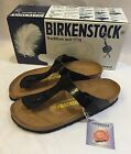 New Nib Birkenstock Gizeh Sz 38 Black Patent Leather Birko Flor