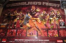 Queensland State of Origin 2006 Team signed Poster  + COA / Proof