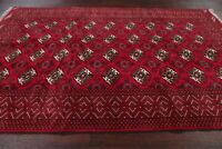New Geometric Bokhara Balouch Area Rug Wool Hand-Knotted Dining Room Carpet 7x10