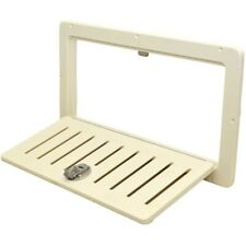 Mako Boat Louvered Door Hatch | 20 3/8 x 9 7/8 In Off White Starboard