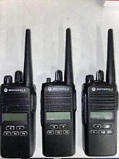 Lot Of 3 Motorola Cp185 435 480 Mhz Uhf 4 Watt Radio 16 Ch Read Description