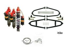 Alba +2 Long Travel A-Arms Elka Legacy Front Rear Shocks Suspension Kit TRX450R