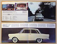 Original Werbeprospekt Broschüre Auto Union DKW F11 1960 Automobil Audi xz