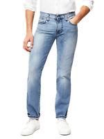 Nudie Herren Slim Straight Fit Bio Denim Jeans Hose - Slim Jim Light Natural U.