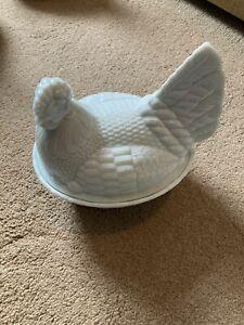 White Hen Egg Holder