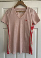 Ladies Pink Adidas Sport Essentials T Shirt Top, Size UK M, Excellent Condition